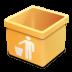 Yellow-trash-empty icon