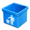 Aqua-trash-empty icon