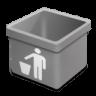 Grey-trash-empty icon