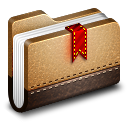Bookmark-Brown-Folder icon