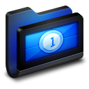 Movies-Black-Folder icon