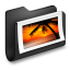 Photos-Black-Folder icon