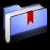 Bookmark-Blue-Folder icon