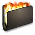 Burn-Black-Folder icon