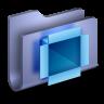 DropBox-Blue-Folder icon