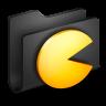 Games-Black-Folder icon