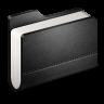 Library-Black-Folder icon