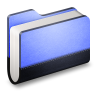 Library-Blue-Folder icon