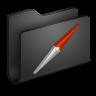 Sites-Black-Folder icon
